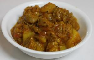 Soya chunks with potatoes